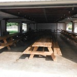 The Pavilion offers plenty of tables for large groups